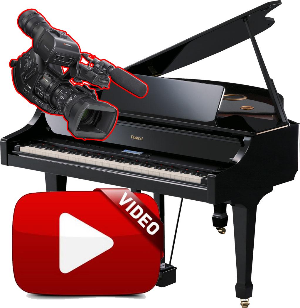 Video blues funky dal vivo al piano