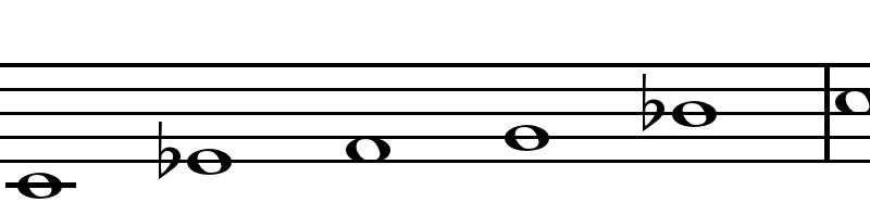 scala pentatonica